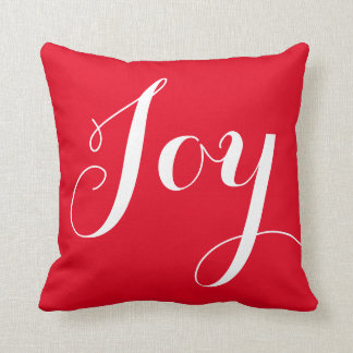 """Joy"" Christmas/Holiday Throw Pillow"