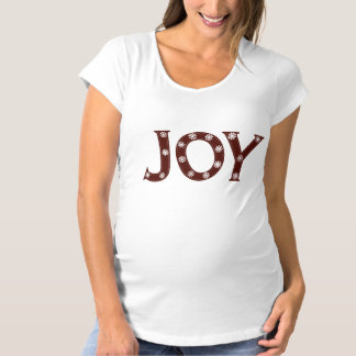 Joy Christmas Maternity T-Shirt