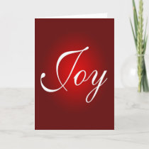 Joy Christmas Message Red White Holiday Colors