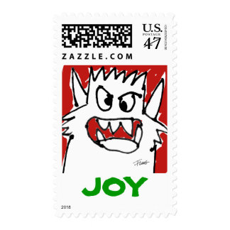 JOY Christmas Monster Cartoon Custom Postage