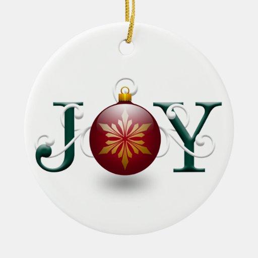 Joy Christmas Ornaments