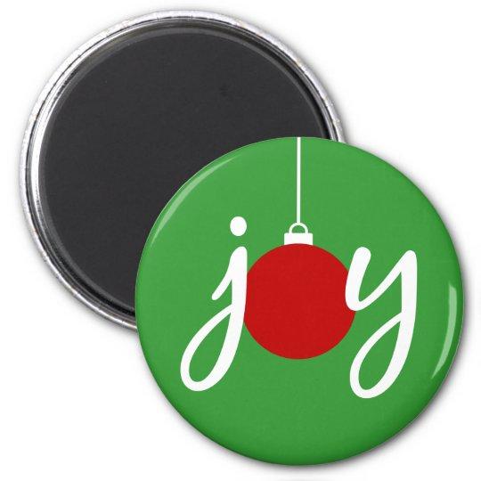 Joy Christmas Ornament Holiday Magnet