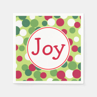Joy Christmas Party Holiday Napkins