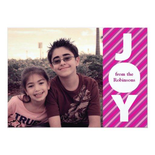 Joy Christmas Photo Card