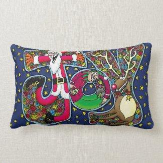 """""""Joy"""" Christmas Pillow"""