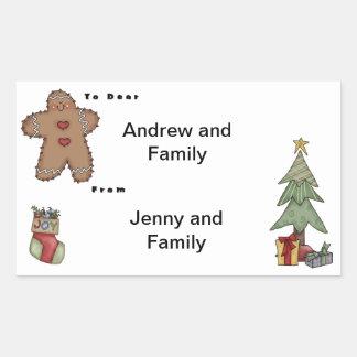 Joy Christmas Rectangular Sticker