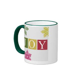 Joy Christmas Snowflakes Mug