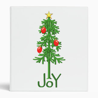 Joy Christmas Tree Binder