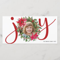 JOY Christmas Wreath Holiday Card
