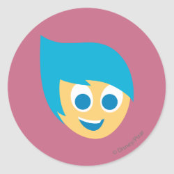 Round Sticker with Cute Cartoon Joy from Inside Out design