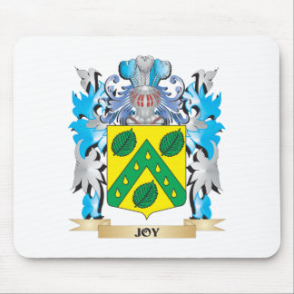 Joy Coat of Arms - Family Crest Mouse Pad