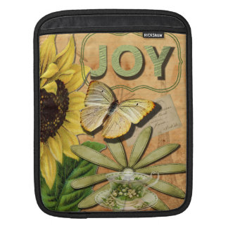 Joy Collage Vintage Eiffel Tower and Butterfly iPad Sleeve