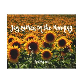 Joy Comes in the Morning Psalms Bible Verse Canvas Print