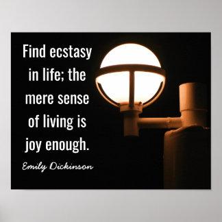 Joy Enough -- Emily Dickinson quote - Art Print