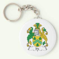 Joy Family Crest Keychain