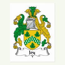 Joy Family Crest Postcard