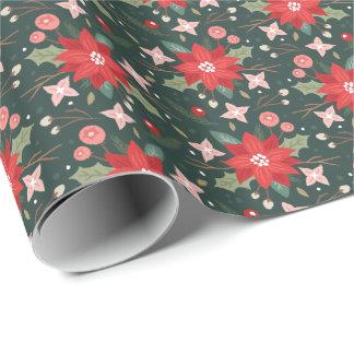 Joy Flourish Gift Wrap - Pine