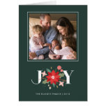 Joy Flourish Holiday Greeting Card - Pine