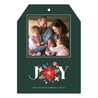 joy christmas holiday greeting card