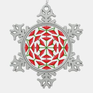 Joy Flower 322 Snowflake Pewter Christmas Ornament