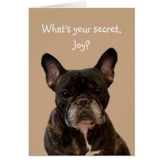 Joy French Bulldog Shakespeare Happy Birthday Card