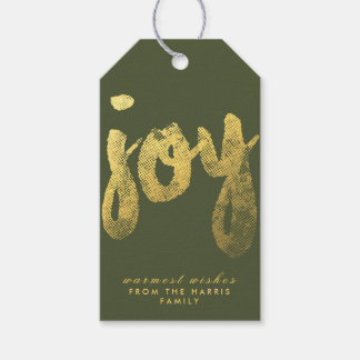 Joy + Gold Foil | HOLIDAYS Gift Tags