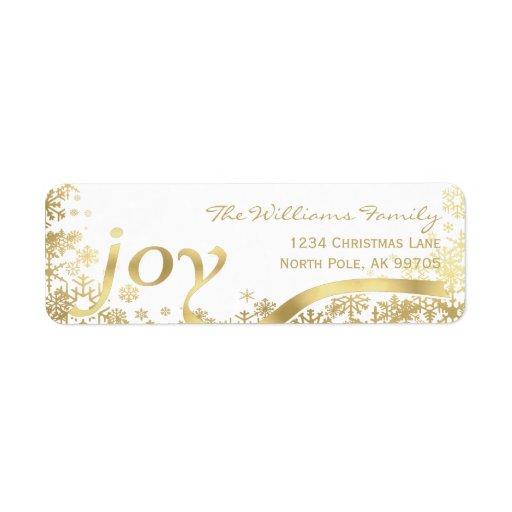 Joy Gold Snowflake Holiday Christmas...