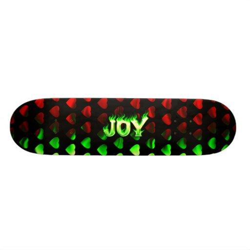 Joy green fire Skatersollie skateboard.