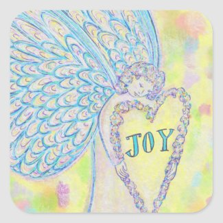 Joy Guardian Angel Art Custom Decal Sticker