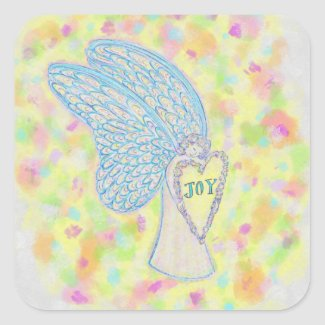 Joy Guardian Angel Art Custom Decal Stickers