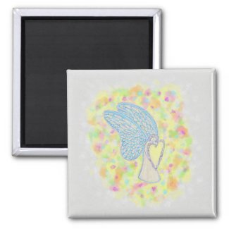 Joy Guardian Angel Art Custom Fridge Magnet
