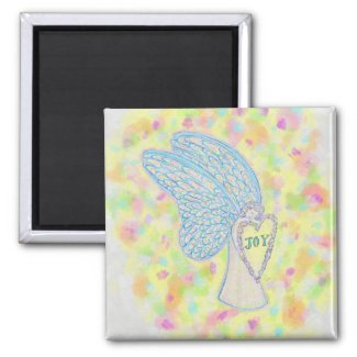 Joy Guardian Angel Art Custom Fridge Magnets
