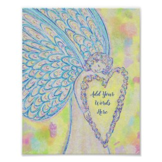 Joy Guardian Angel Art Print Posters