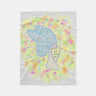 Joy Guardian Angel Custom Fleece Blanket