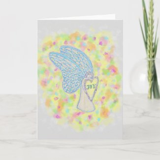 Joy Guardian Angel Custom Greeting Cards