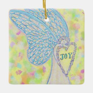 Joy Guardian Angel Custom Holiday Gift Ornament
