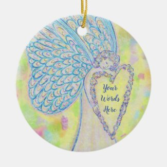 Joy Guardian Angel Custom Holiday Gift Ornaments