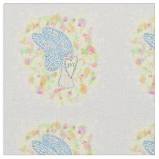 Joy Guardian Angel Fabric Art Material
