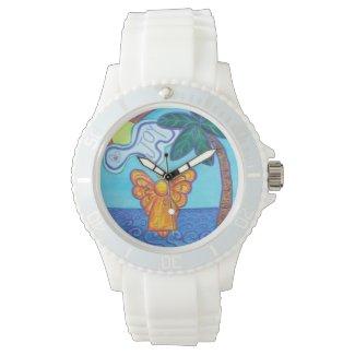 Joy Guardian Beach Angel Custom Art Watch Design