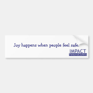 Joy Happens bumper sticker