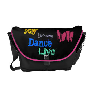 Joy Harmony Love Live Dance quotation black messen Messenger Bag