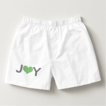 Joy - heart - black and green. boxers