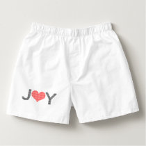 Joy - heart - black and red. boxers