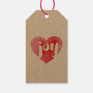Joy Heart Holiday Tags Pack Of Gift Tags