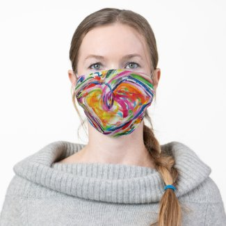 Joy Hearts Inspirational Art Custom Face Masks