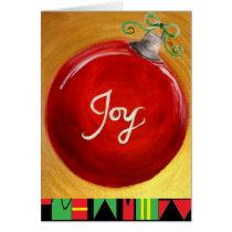 Joy Holiday Card by Alicia L. McDaniel