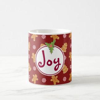 Joy Holiday Christmas Gingerbread Cookie Mug