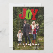 JOY Holiday Christmas Photo Card