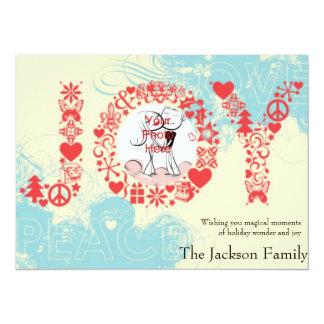 """Joy Holiday Custom Photo Cards 5.5"""" X 7.5"""" Invitation Card"""
