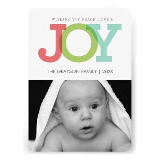 JOY holiday photo card - rounded corners